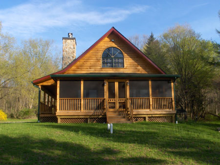 Blue Mountain Log Co Finished Homes